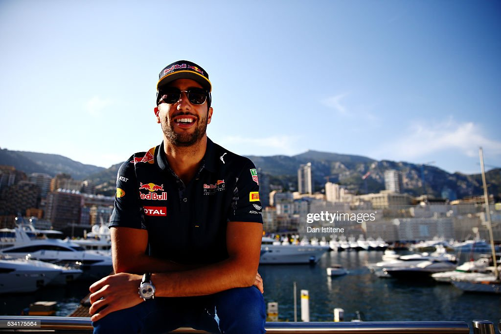 <a gi-track='captionPersonalityLinkClicked' href=/galleries/search?phrase=Daniel+Ricciardo&family=editorial&specificpeople=6547569 ng-click='$event.stopPropagation()'>Daniel Ricciardo</a> of Australia and Red Bull Racing on top of the Red Bull Racing Energy Station during previews to the Monaco Formula One Grand Prix at Circuit de Monaco on May 25, 2016 in Monte-Carlo, Monaco.