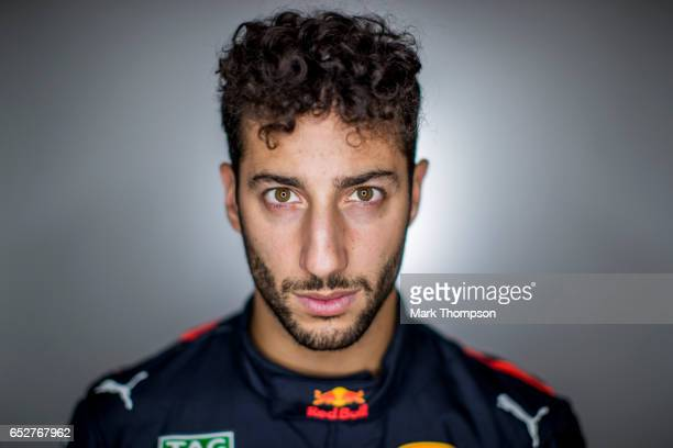 Daniel Ricciardo of Australia and Red Bull Racing poses for a portrait during the final day of Formula One winter testing at Circuit de Catalunya on...