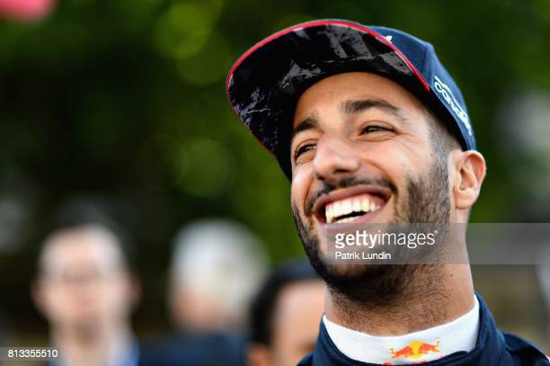 Daniel Ricciardo of Australia and Red Bull Racing prepares to drive during F1 Live London at Trafalgar Square on July 12 2017 in London England F1...