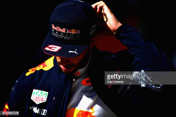 Daniel Ricciardo of Australia and Red Bull Racing walks in the Paddock during practice for the Formula One Grand Prix of Russia on April 28 2017 in...