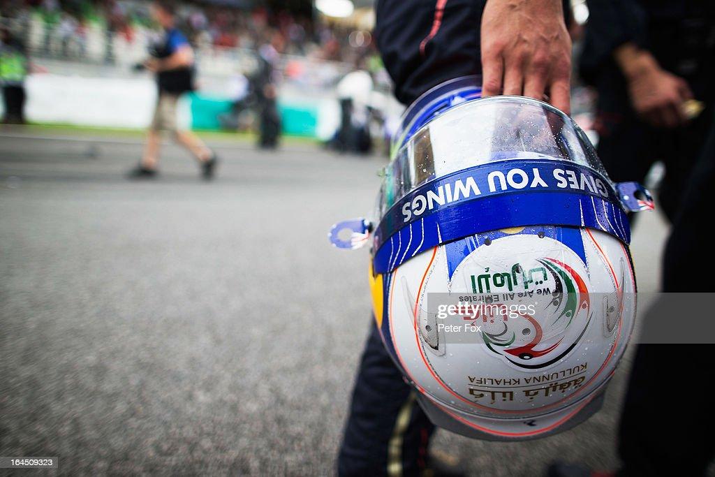 Daniel Ricciardo of Australia and Scuderia Toro Rosso prepares to drive during the Malaysian Formula One Grand Prix at the Sepang Circuit on March 24, 2013 in Kuala Lumpur, Malaysia.