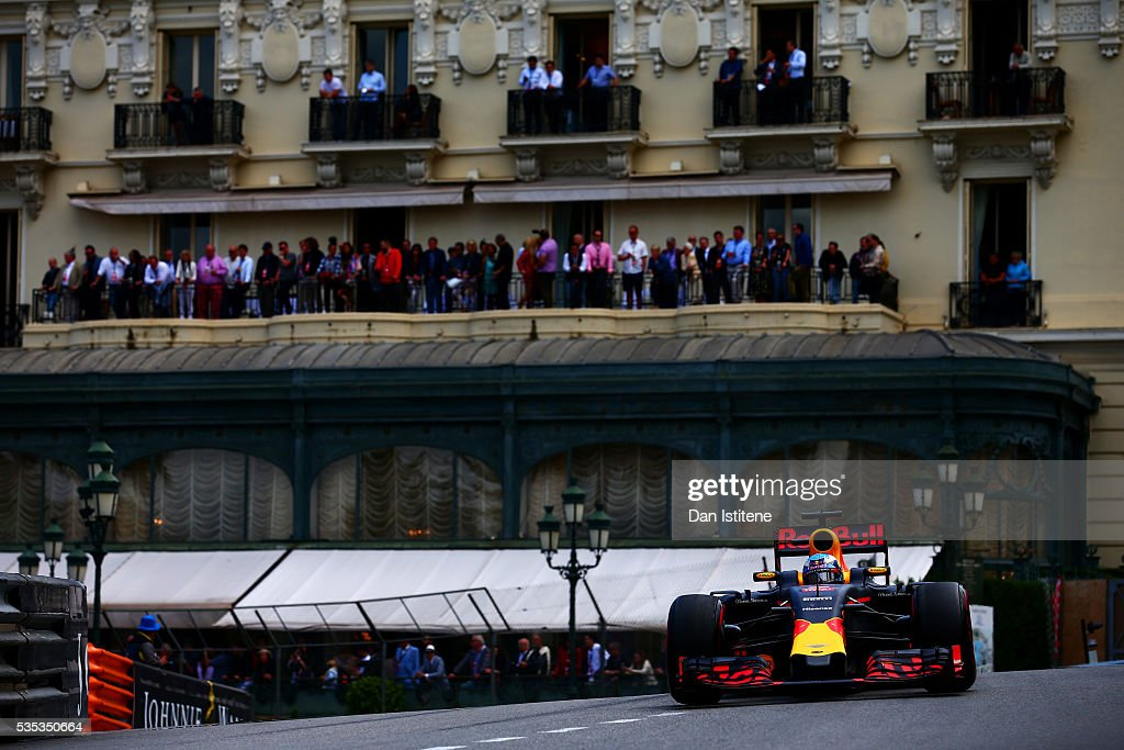 <a gi-track='captionPersonalityLinkClicked' href=/galleries/search?phrase=Daniel+Ricciardo&family=editorial&specificpeople=6547569 ng-click='$event.stopPropagation()'>Daniel Ricciardo</a> of Australia drives the Red Bull Racing Red Bull-TAG Heuer RB12 TAG Heuer during the Monaco Formula One Grand Prix at Circuit de Monaco on May 29, 2016 in Monte-Carlo, Monaco.