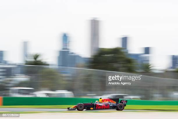 Daniel Ricciardo of Australia driving for Red Bull Racing on Friday Free Practice during the 2017 Rolex Australian Formula 1 Grand Prix at Albert...