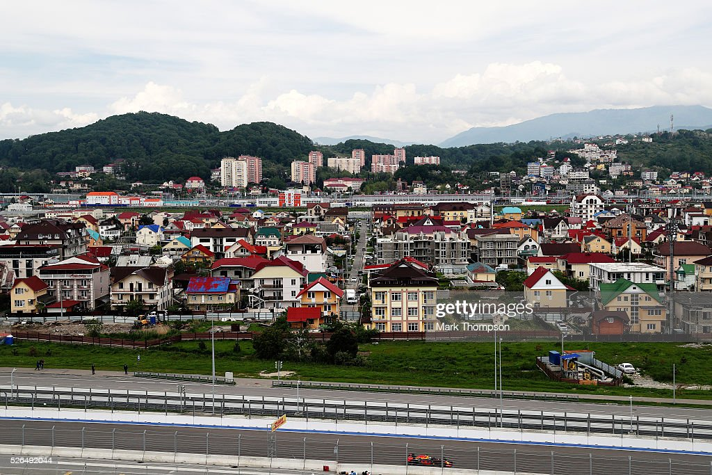 Daniel Ricciardo of Australia driving the (3) Red Bull Racing Red Bull-TAG Heuer RB12 TAG Heuer on track during final practice ahead of the Formula One Grand Prix of Russia at Sochi Autodrom on April 30, 2016 in Sochi, Russia.