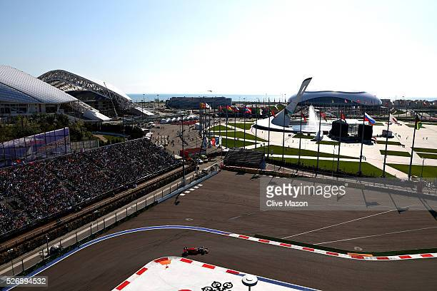 Daniel Ricciardo of Australia driving the Red Bull Racing Red BullTAG Heuer RB12 TAG Heuer on track during the Formula One Grand Prix of Russia at...