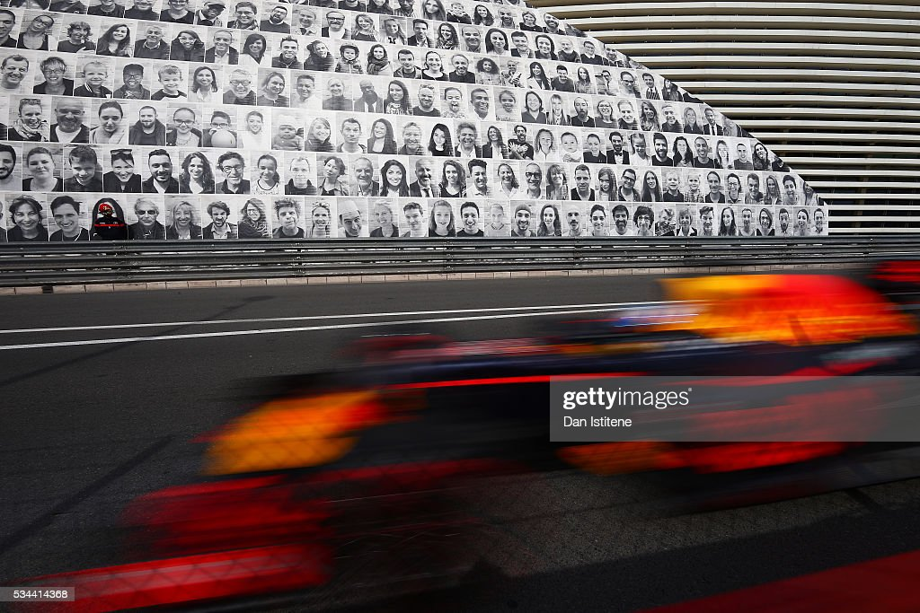 <a gi-track='captionPersonalityLinkClicked' href=/galleries/search?phrase=Daniel+Ricciardo&family=editorial&specificpeople=6547569 ng-click='$event.stopPropagation()'>Daniel Ricciardo</a> of Australia driving the (3) Red Bull Racing Red Bull-TAG Heuer RB12 TAG Heuer on track during practice for the Monaco Formula One Grand Prix at Circuit de Monaco on May 26, 2016 in Monte-Carlo, Monaco.