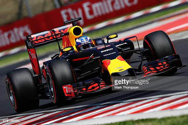 Daniel Ricciardo of Australia driving the Red Bull Racing Red BullTAG Heuer RB12 TAG Heuer on track during final practice for the Formula One Grand...
