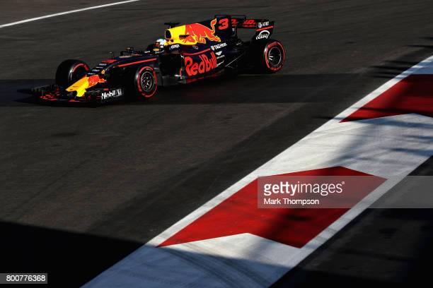 Daniel Ricciardo of Australia driving the Red Bull Racing Red BullTAG Heuer RB13 TAG Heuer on track during the Azerbaijan Formula One Grand Prix at...