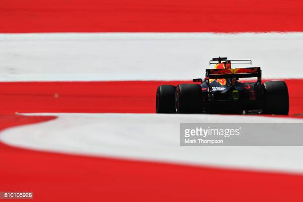 Daniel Ricciardo of Australia driving the Red Bull Racing Red BullTAG Heuer RB13 TAG Heuer on track during practice for the Formula One Grand Prix of...
