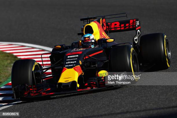 Daniel Ricciardo of Australia driving the Red Bull Racing Red BullTAG Heuer RB13 TAG Heuer on track during the Formula One Grand Prix of Japan at...