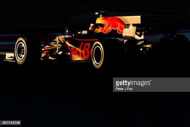Daniel Ricciardo of Red Bull Racing and Australia during day three of Formula One winter testing at Circuit de Catalunya on March 1 2017 in Montmelo...