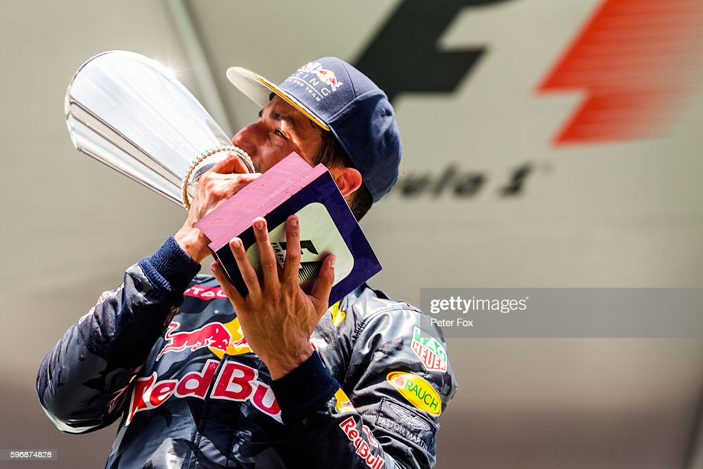 Daniel Ricciardo of Red Bull Racing and Australia during the Formula One Grand Prix of Belgium at Circuit de SpaFrancorchamps on August 28 2016 in...