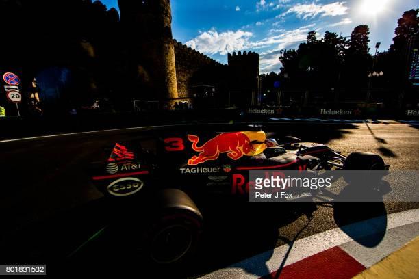 Daniel Ricciardo of Red Bull Racing and Australia during the Azerbaijan Formula One Grand Prix at Baku City Circuit on June 25 2017 in Baku Azerbaijan