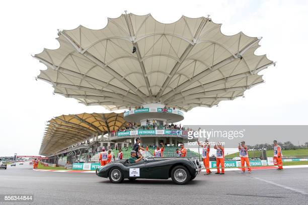 Daniel Ricciardo of Red Bull Racing during driver's parade before the start of the race of the Formula 1 Petronas Malaysia Grand Prix held at Sepang...