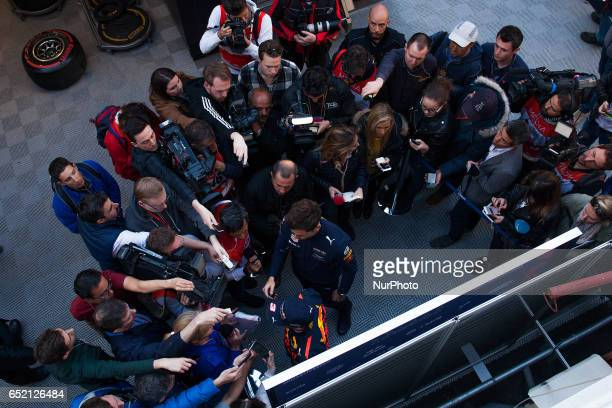Daniel Ricciardo of Red Bull Racing Team in action during the Formula One winter testing at Circuit de Catalunya on March 10 2017 in Montmelo Spain