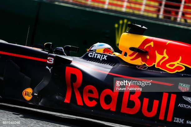 Daniel Ricciardo of Team Red Bull Racing during 1st F1 practice session at the 2017 Australian Formula 1 Grand Prix on March 24 2017 in Melbourne...