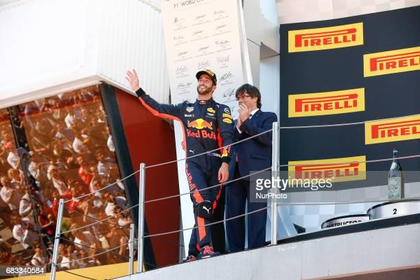 Daniel Ricciardo team Red Bull celebrates the third position during the Formula One GP of Spain 2017 celebrated at Circuit Barcelona Catalunuya on...