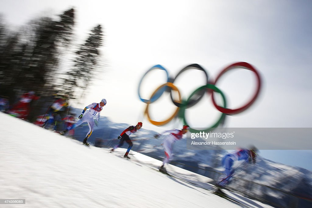 Daniel Richardsson of Sweden competes in the Men's 50 km Mass Start Free during day 16 of the Sochi 2014 Winter Olympics at Laura Cross-country Ski & Biathlon Center on February 23, 2014 in Sochi, Russia.