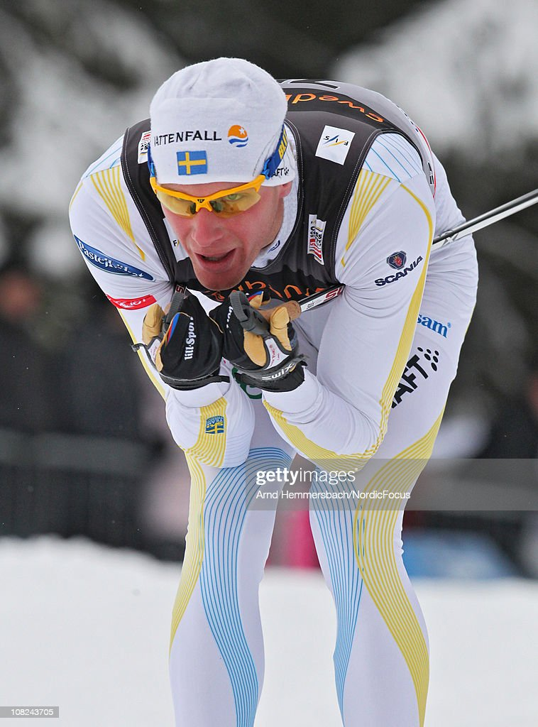 <a gi-track='captionPersonalityLinkClicked' href=/galleries/search?phrase=Daniel+Rickardsson&family=editorial&specificpeople=4907512 ng-click='$event.stopPropagation()'>Daniel Rickardsson</a> of Sweden competes in the men's 15km Cross Country Skiing during the FIS World Cup on January 22, 2011 in Otepaeae, Estonia.