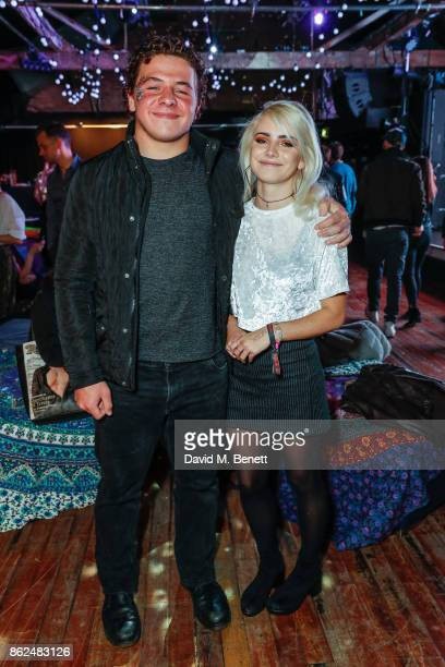 Daniel Roche and Ramona Marquez attend the 'Access All Areas' gala screening in aid of Teenage Cancer Trust at Proud Camden on October 17 2017 in...