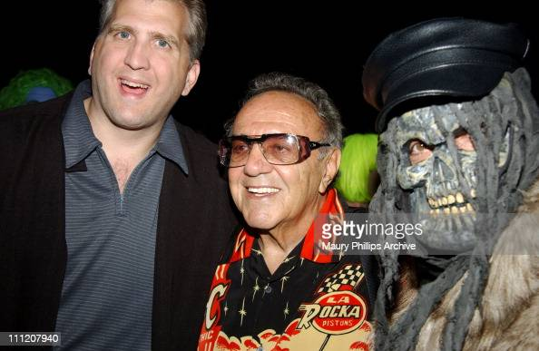 Daniel Roebuck George Barris and ghoul during 'Uncle Davvers Really Scary Movie Show' World Premiere at Silent Movie Theater in Hollywood California...