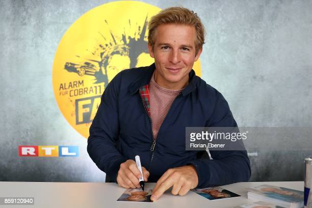 Daniel Roesner attends the 'Alarm fuer Cobra 11' fan meeting on October 8 2017 in Huerth Germany