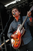 Daniel Rossen of Grizzly Bear performs during the 2009 Pitchfork Music Festival at Union Park on July 19 2009 in Chicago Illinois