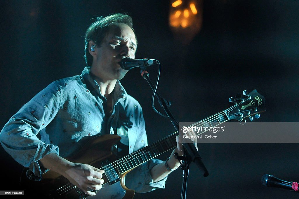 <a gi-track='captionPersonalityLinkClicked' href=/galleries/search?phrase=Daniel+Rossen&family=editorial&specificpeople=4409684 ng-click='$event.stopPropagation()'>Daniel Rossen</a> of Grizzly Bear performs in concert at The Brown Theatre on April 1, 2013 in Louisville, Kentucky.