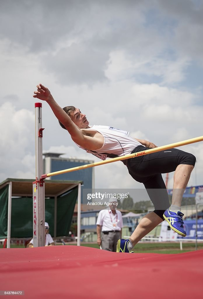 Daniel Royer of France competes in the Men's Heptathlon high jump during the INAS European Athletics Championships at the 19 Mayis Sports Complex Naili Moran Athletics Facilities in Ankara, Turkey on June 30, 2016.