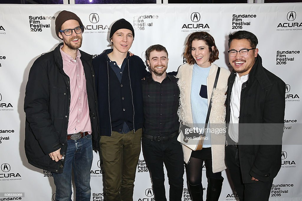 Daniel Scheinert Paul Dano Daniel Radcliffe Mary Elizabeth Winstead and Dan Kwan arrive at 'Swiss Army Man' Premiere Party at The Acura Studio at...