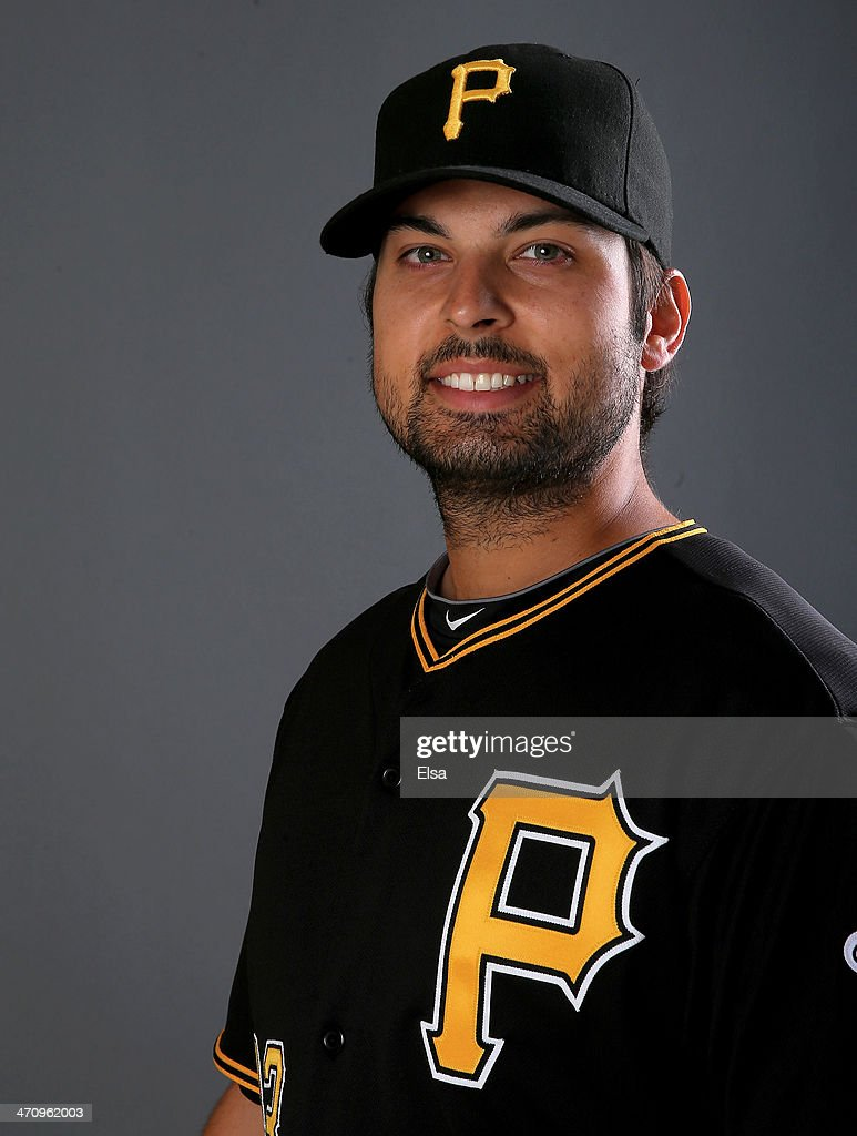 Daniel Schlereth #43 of the Pittsburgh Pirates poses for a portrait during the Pittsburgh Pirates Photo day on February 21, 2014 at Pirate City in Bradenton, Florida.