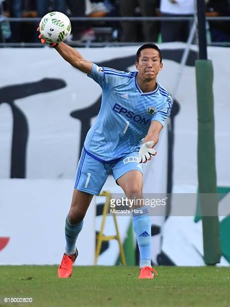 Daniel Schmidt of Matsumoto Yamaga in action during the JLeague second division match between JEF United Chiba and Matsumoto Yamaga at Fukuda Denshi...