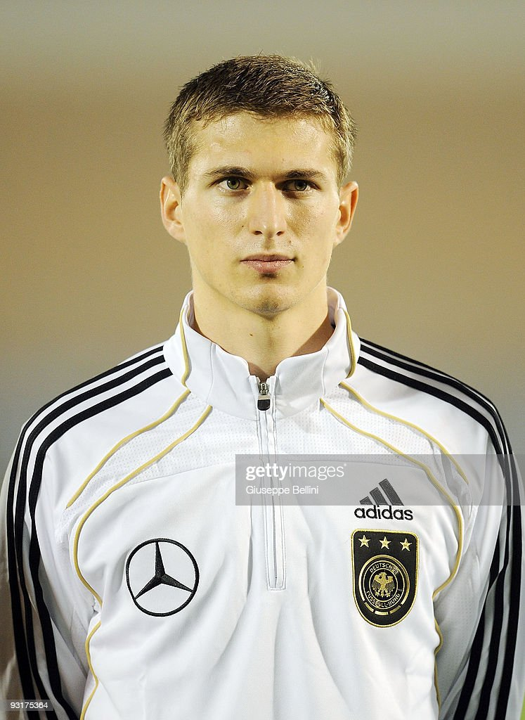 <a gi-track='captionPersonalityLinkClicked' href=/galleries/search?phrase=Daniel+Schwaab&family=editorial&specificpeople=686549 ng-click='$event.stopPropagation()'>Daniel Schwaab</a> of Germany before the UEFA Under 21 Championship match between San Marino and Germany at Olimpico stadium on November 17, 2009 in Serravalle, San Marino.