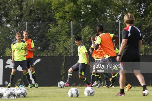 Daniel Schwaab of PSV Luuk de Jong of PSV Hirving Lozano of PSV during the preseason summer training camp of PSV Eindhoven at Stade StMarc on July 18...