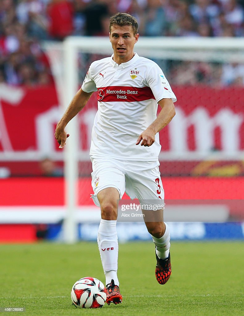 <a gi-track='captionPersonalityLinkClicked' href=/galleries/search?phrase=Daniel+Schwaab&family=editorial&specificpeople=686549 ng-click='$event.stopPropagation()'>Daniel Schwaab</a> of Stuttgart controles the ball during the Bundesliga match between VfB Stuttgart and 1899 Hoffenheim at Mercedes-Benz Arena on September 20, 2014 in Stuttgart, Germany.