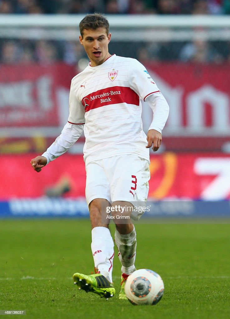 <a gi-track='captionPersonalityLinkClicked' href=/galleries/search?phrase=Daniel+Schwaab&family=editorial&specificpeople=686549 ng-click='$event.stopPropagation()'>Daniel Schwaab</a> of Stuttgart controles the ball during the Bundesliga match between VfB Stuttgart and FC Augsburg at Mercedes-Benz Arena on February 9, 2014 in Stuttgart, Germany.