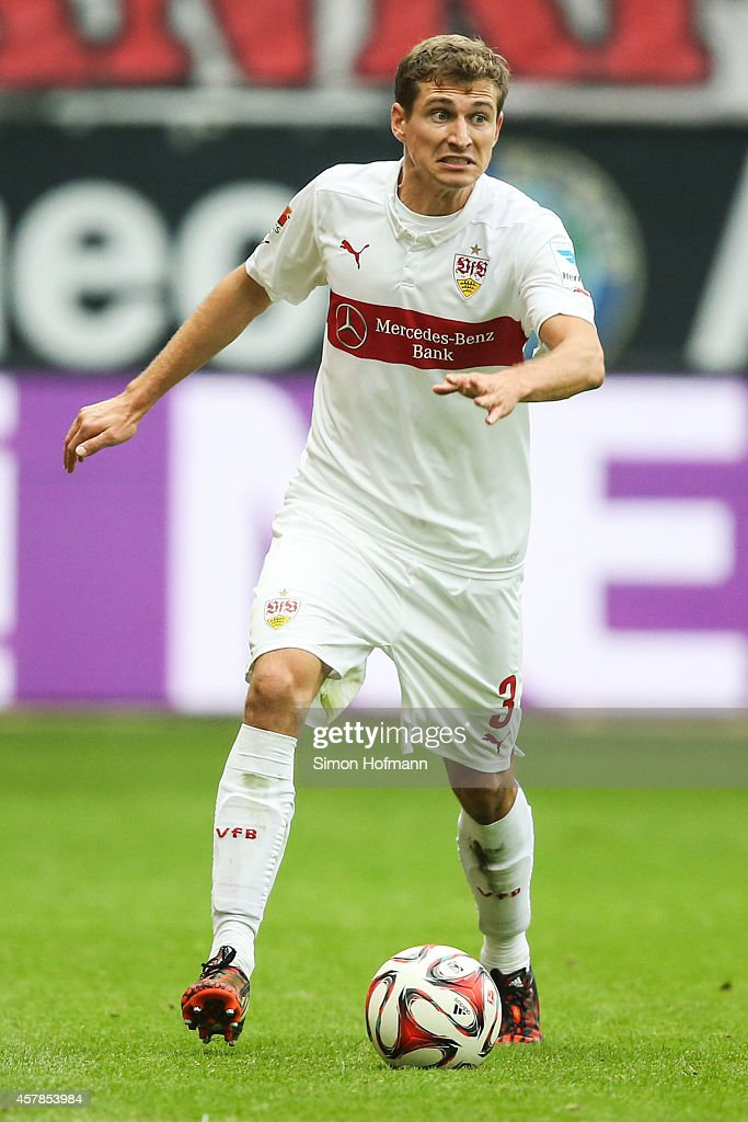 <a gi-track='captionPersonalityLinkClicked' href=/galleries/search?phrase=Daniel+Schwaab&family=editorial&specificpeople=686549 ng-click='$event.stopPropagation()'>Daniel Schwaab</a> of Stuttgart controls the ball during the Bundesliga match between Eintracht Frankfurt and VfB Stuttgart at Commerzbank-Arena on October 25, 2014 in Frankfurt am Main, Germany.