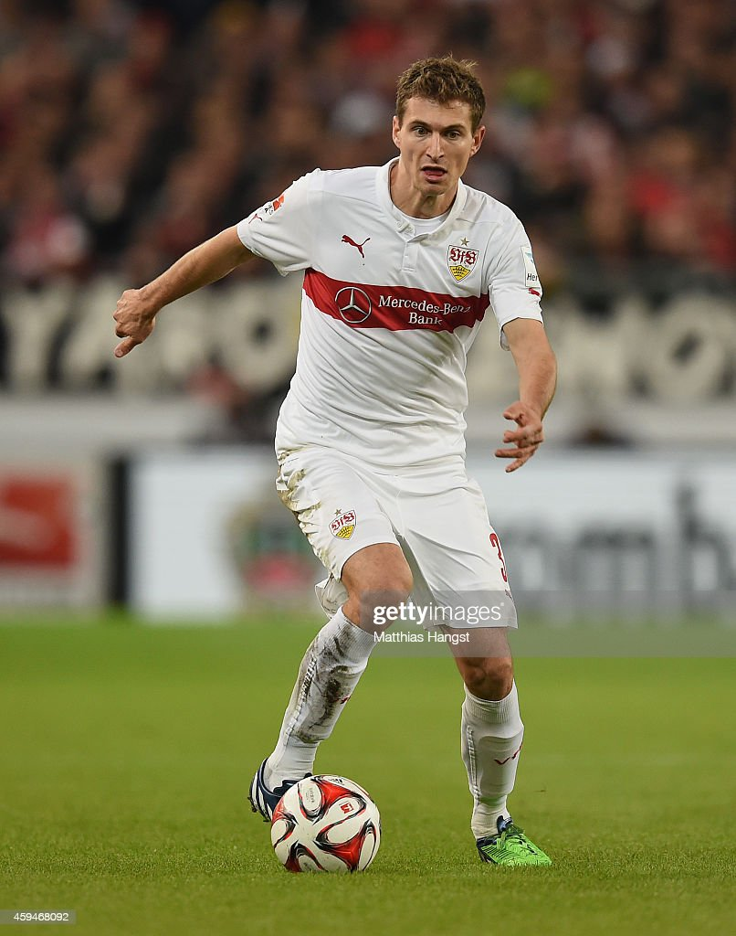 <a gi-track='captionPersonalityLinkClicked' href=/galleries/search?phrase=Daniel+Schwaab&family=editorial&specificpeople=686549 ng-click='$event.stopPropagation()'>Daniel Schwaab</a> of Stuttgart controls the ball during the Bundesliga match between VfB Stuttgart and FC Augsburg at Mercedes-Benz Arena on November 23, 2014 in Stuttgart, Germany.