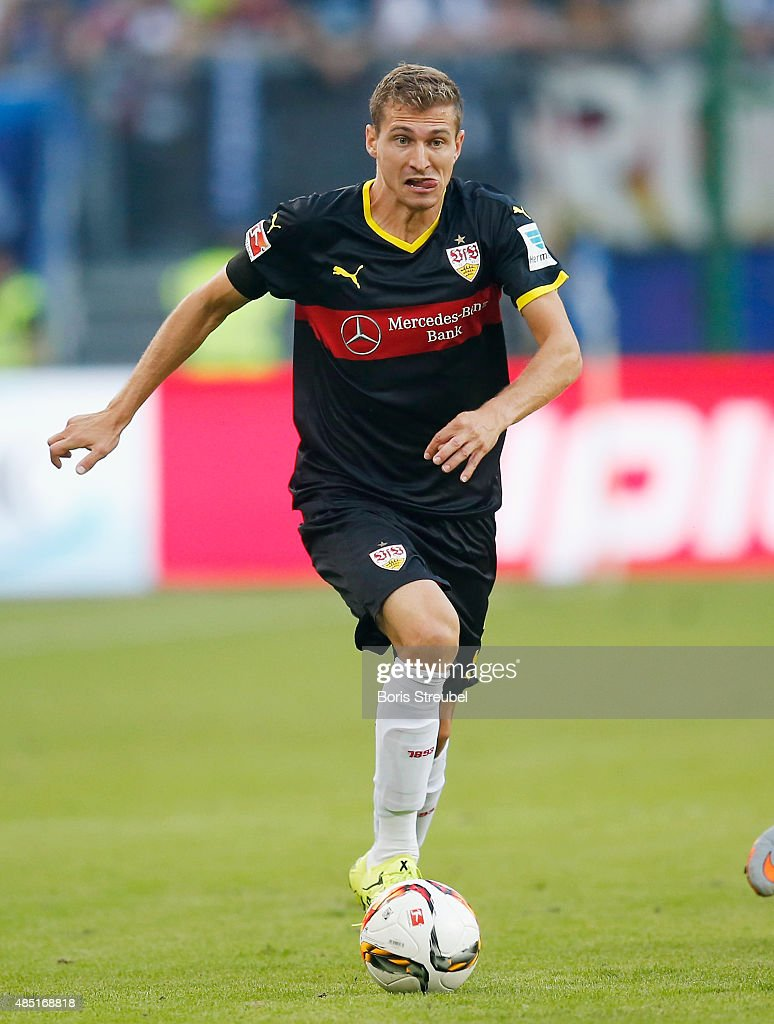 <a gi-track='captionPersonalityLinkClicked' href=/galleries/search?phrase=Daniel+Schwaab&family=editorial&specificpeople=686549 ng-click='$event.stopPropagation()'>Daniel Schwaab</a> of Stuttgart runs with the ball during the Bundesliga match between Hamburger SV and VfB Stuttgart at Volksparkstadion on August 22, 2015 in Hamburg, Germany.