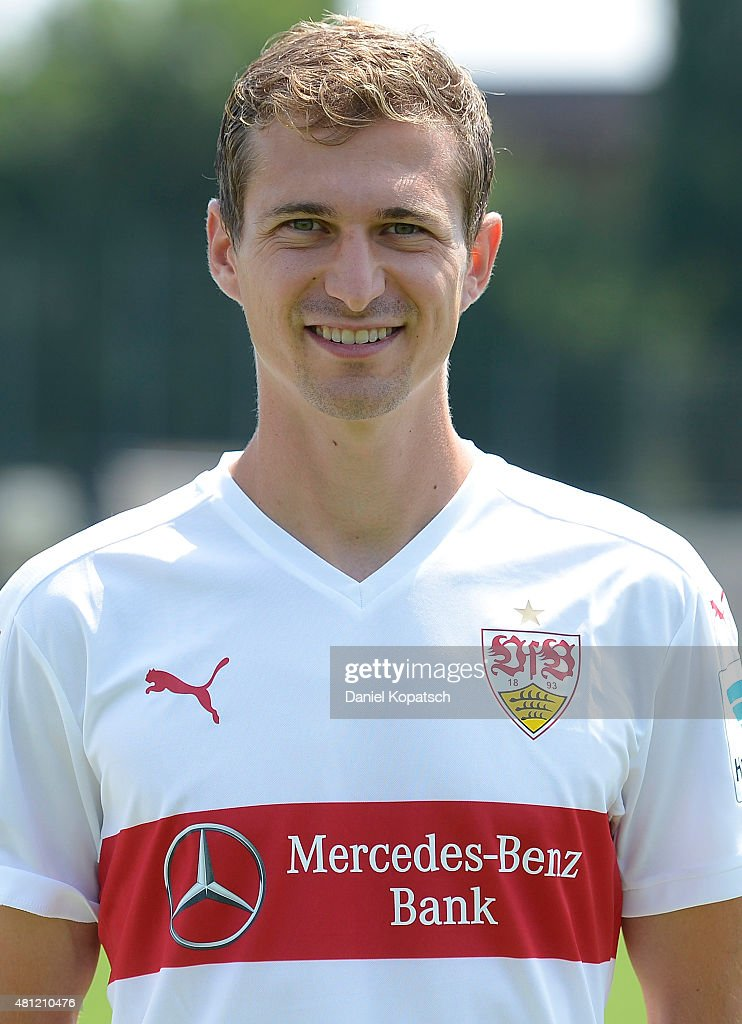 <a gi-track='captionPersonalityLinkClicked' href=/galleries/search?phrase=Daniel+Schwaab&family=editorial&specificpeople=686549 ng-click='$event.stopPropagation()'>Daniel Schwaab</a> poses during the VfB Stuttgart team presentation on July 17, 2015 in Stuttgart, Germany.
