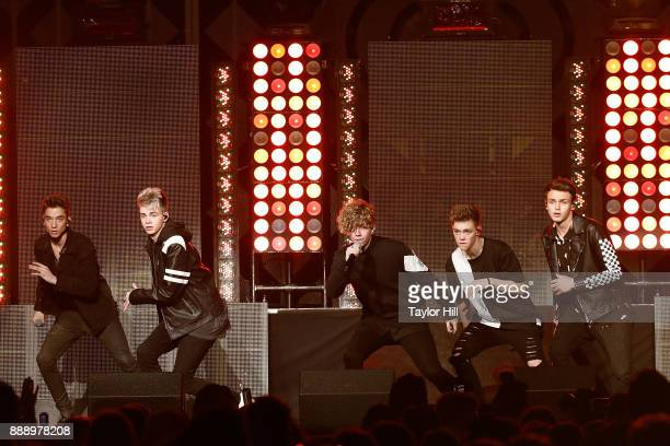 Daniel Seavey Corbyn Besson Jack Avery Zach Herron and Jonah Marais of Why Don't We perform during the 2017 Z100 Jingle Ball at Madison Square Garden...
