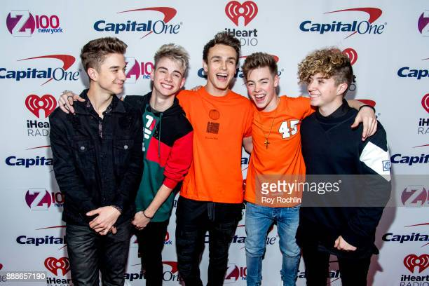 Daniel Seavey Corbyn Besson Jonah Marais Zach Herron and Jack Avery of Why Don't We attend Z100's iHeartRadio Jingle Ball 2017 at Madison Square...