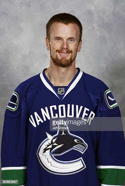 Daniel Sedin of the Vancouver Canucks poses for his official headshot for the 20092010 NHL season in Vancouver British Columbia Canada