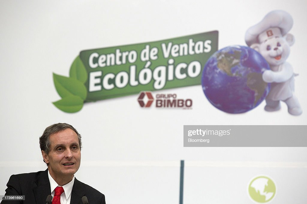 Daniel Servitje, chief executive officer of Grupo Bimbo SAB de CV, speaks inside the company's new sales center in Mexico City, Mexico, on Thursday, July 18, 2013. Grupo Bimbo inaugurated a new eco-friendly sales center today. Photographer: Susana Gonzalez/Bloomberg via Getty Images
