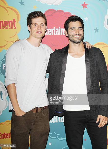 Daniel Sharman and Tyler Hoechlin arrive at the Entertainment Weekly's Annual ComicCon celebration held at Float at Hard Rock Hotel San Diego on July...
