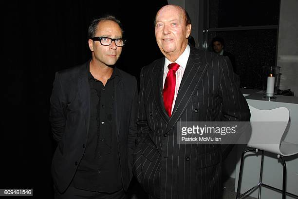 Daniel Silver and Parker Ladd attend Swarovski CFDA Nominee Honoree Dinner at Top of the Rock at Rockefeller Center on June 3 2007 in New York City