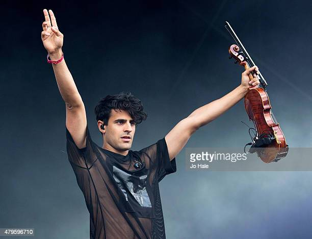 Daniel Sims of Clean Bandit performs on stage at Finsbury Park at the New Look Wireless Festival 2015Day 3 on July 5 2015 in London England