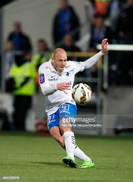 Daniel Sjolund during the IFK Norrkoping vs Halmstad BK Allsvenskan match at Nya Parken on October 25 2015 in Norrkoping Sweden