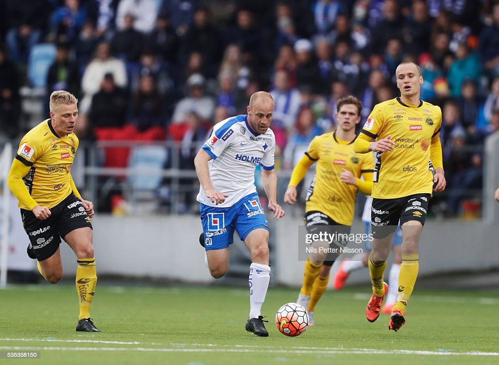 Daniel Sjolund of IFK Norrkoping during the Allsvenskan match between IFK Norrkoping and IF Elfsborg at Ostgotaporten on May 29, 2016 in Norrkoping, Sweden.