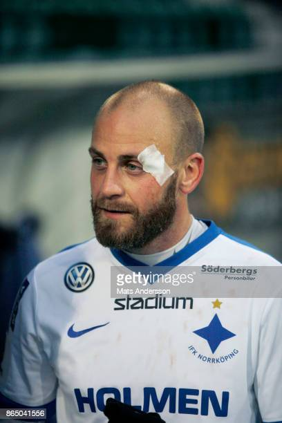 Daniel Sjolund of IFK Norrkoping during the Allsvenskan match between GIF Sundsvall and IFK Norrkoping at Idrottsparken on October 22 2017 in...
